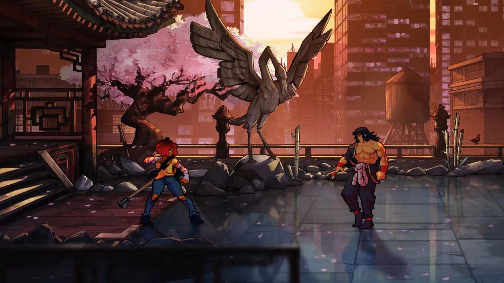 8 минут геймплея Streets of Rage 4: Черри Хантер в деле