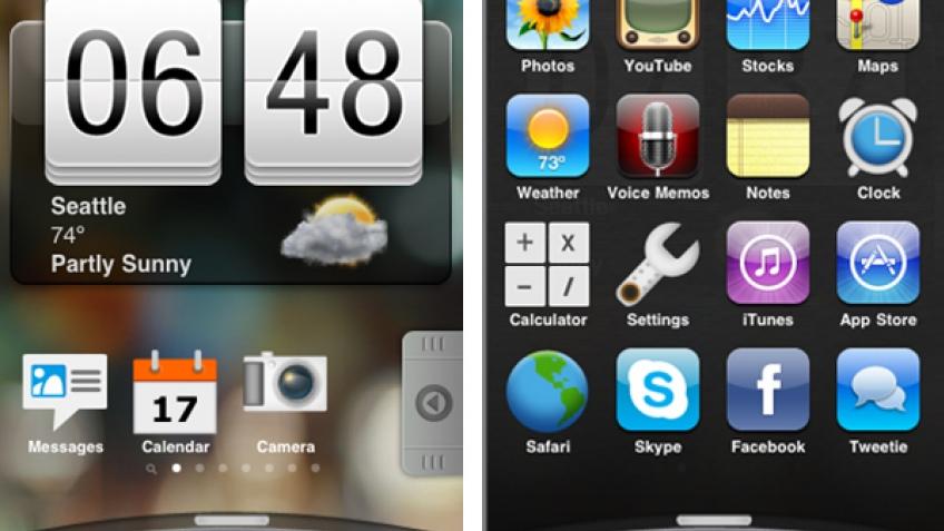 Хакеры установили Sence UI на Apple iPhone