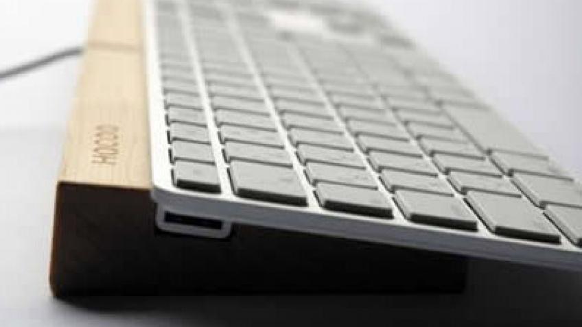 Деревянная клавиатура для iMac