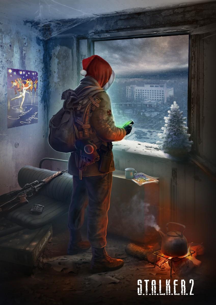 Авторы S.T.A.L.K.E.R.2 подготовили новогодную открытку