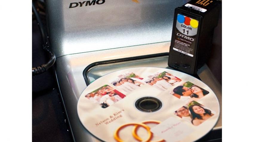 Dymo наносит красивые картинки на диски