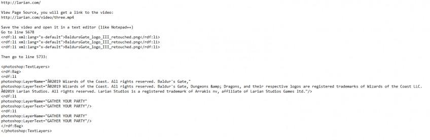 Larian тизерит «III» — похоже, это Baldur's Gate 3?