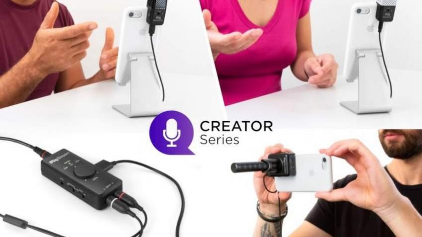 IK Multimedia представила ряд микрофонов для блогеров и журналистов