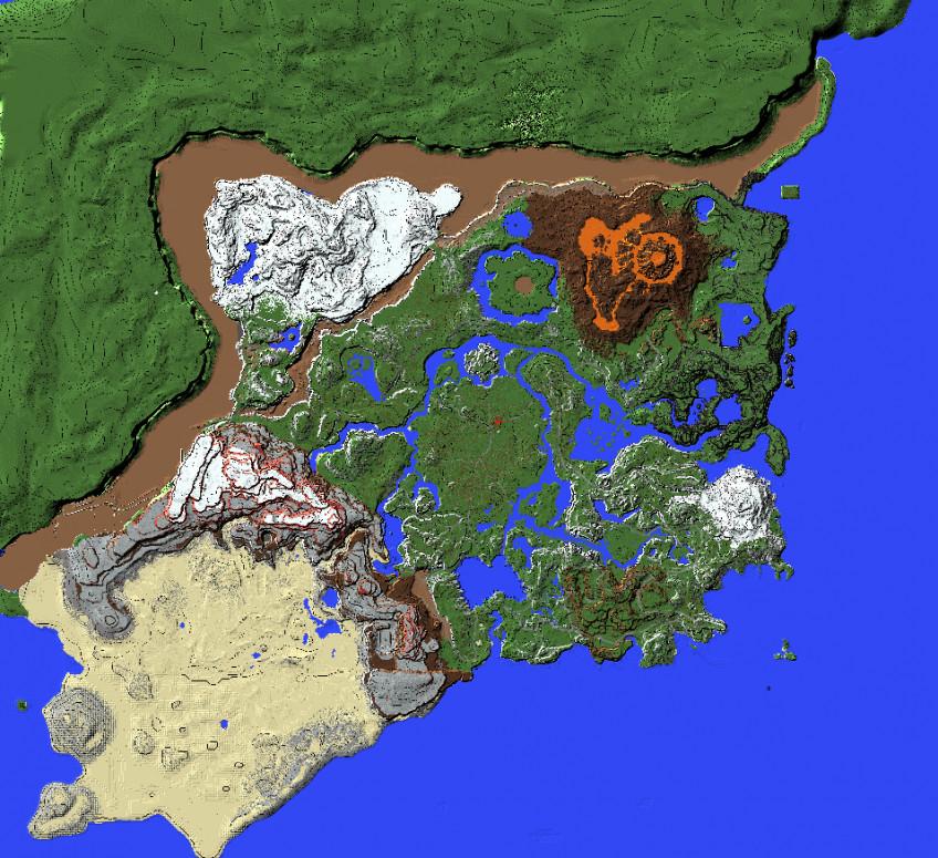 Полную карту The Legend of Zelda: Breath of the Wild воссоздали в Minecraft1