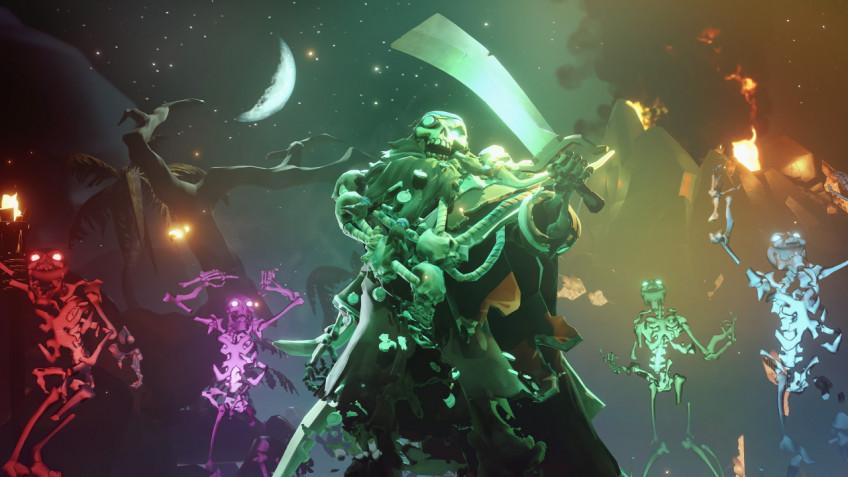 Свежее обновление для Sea of Thieves добавило в игру питомцев-скелетов