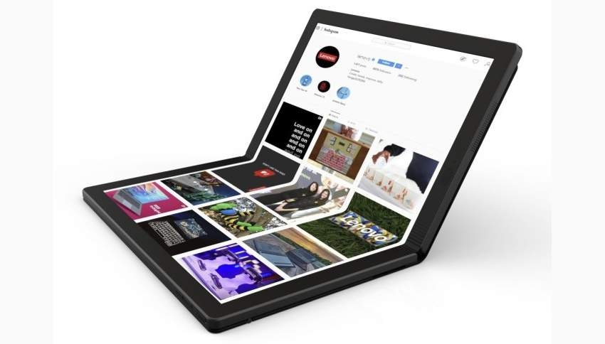 Lenovo показала прототип ноутбука со складным экраном