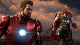 Авторы «Мстителей» показали базу супергероев, систему инвентаря и прокачку