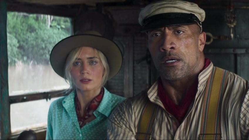 Эмили Блант и Дуэйн Джонсон в первом трейлере фильма «Круиз по джунглям»