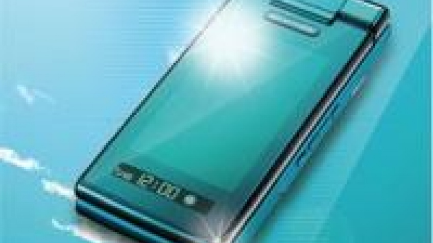 Телефон KDDI au на солнечных батареях