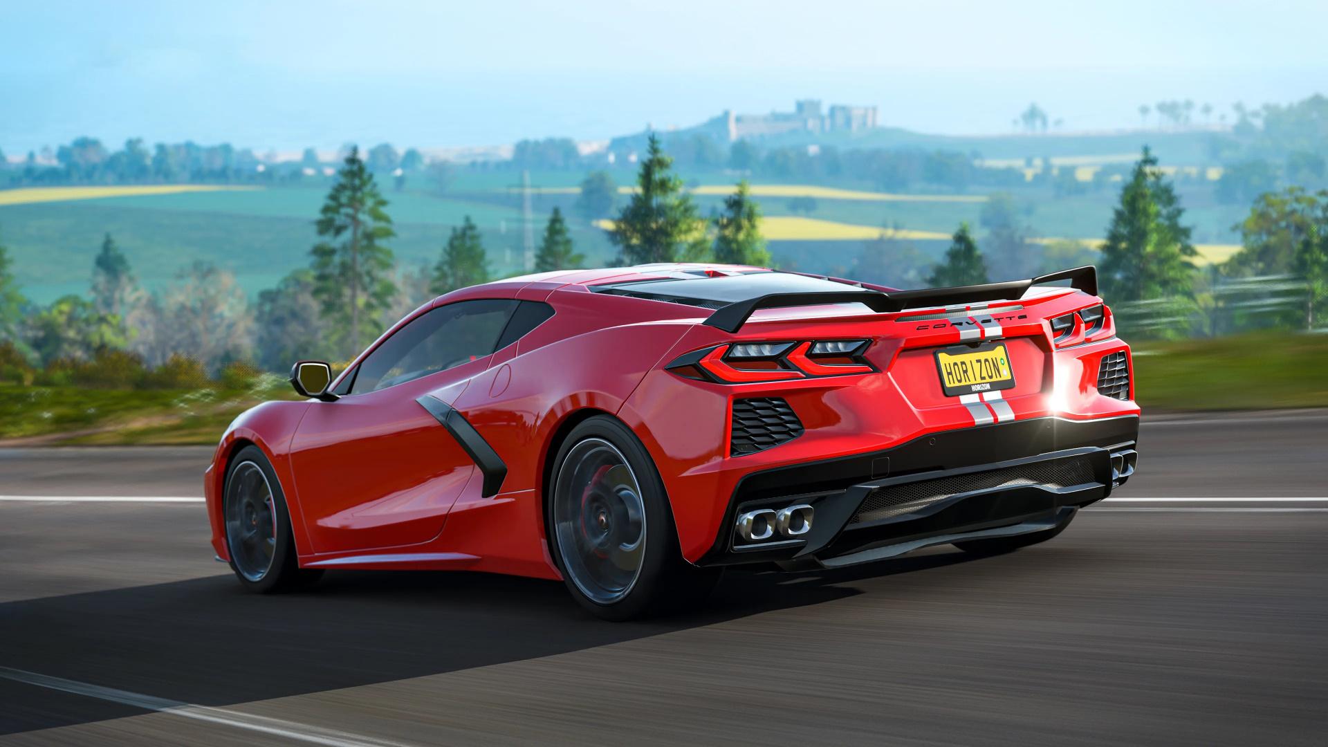В Forza Horizon4 добавят три новых автомобиля, включая Corvette C8