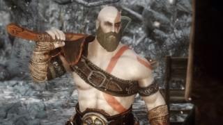 Моддер перенёс Кратоса из новой God of War в Skyrim