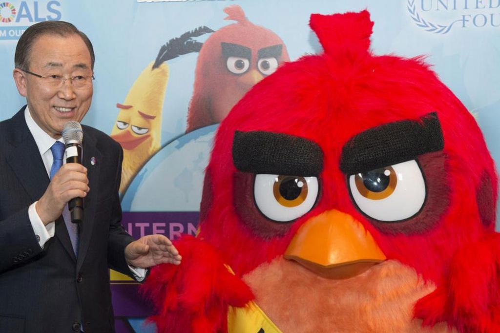 Генсек ООН назначил птицу из Angry Birds почетным послом