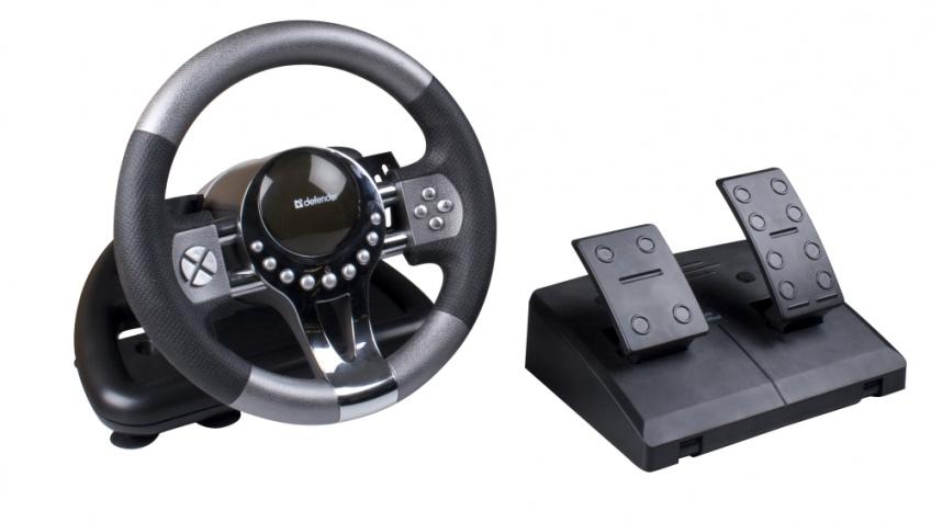 Недорогой руль для начинающих виртуальных гонщиков