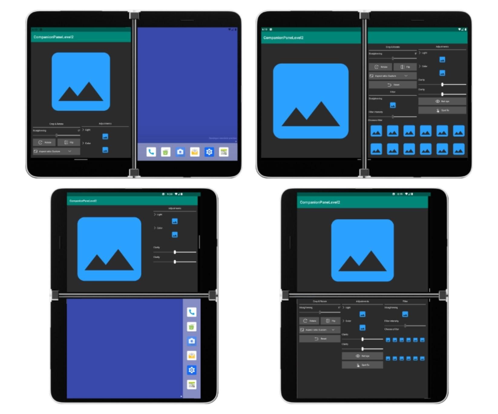СМИ: вот так могут выглядеть приложения на двуэкранном смартфоне Surface