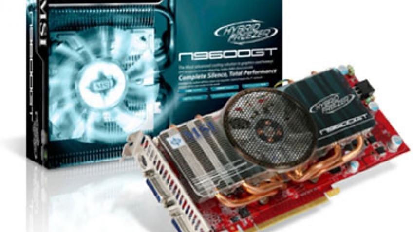 GeForce 9600 GT с гибридным кулером от MSI
