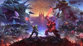 Утекли основной постер и скриншоты второй части DOOM Eternal: The Ancient Gods
