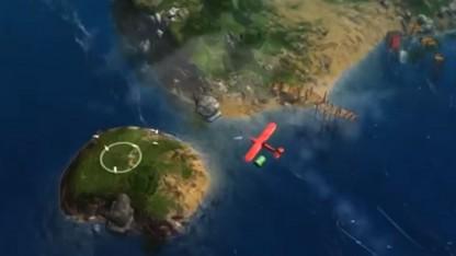 Герой Above — самолётик над затопленным миром