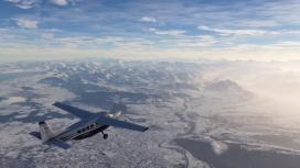 В новом ролике Microsoft Flight Simulator показали заснеженные просторы
