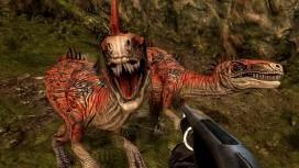 С ружьем на динозавра