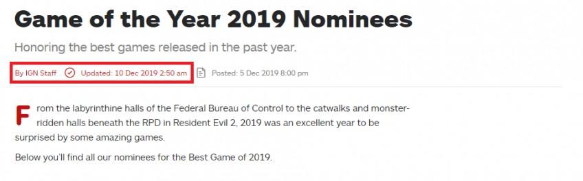 «Игрой года» среди читателей IGN стала Death Stranding