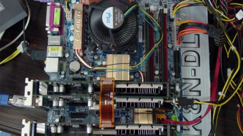 Quad-SLI на плате Intel