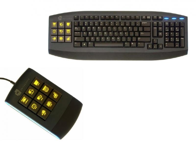 Клавиатура с ЖК-дисплеями для геймеров