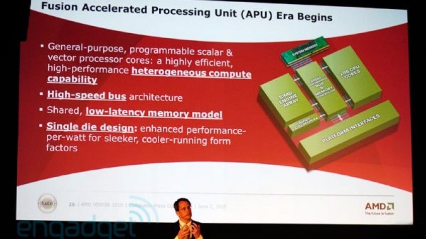 AMD продемонстрировала гибридные процессоры Fusion