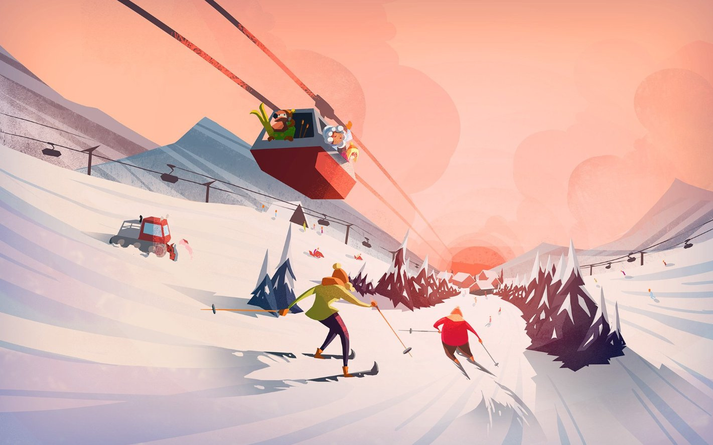 Симулятор Snowtopia: Ski Resort Tycoon вышел в ранний доступ