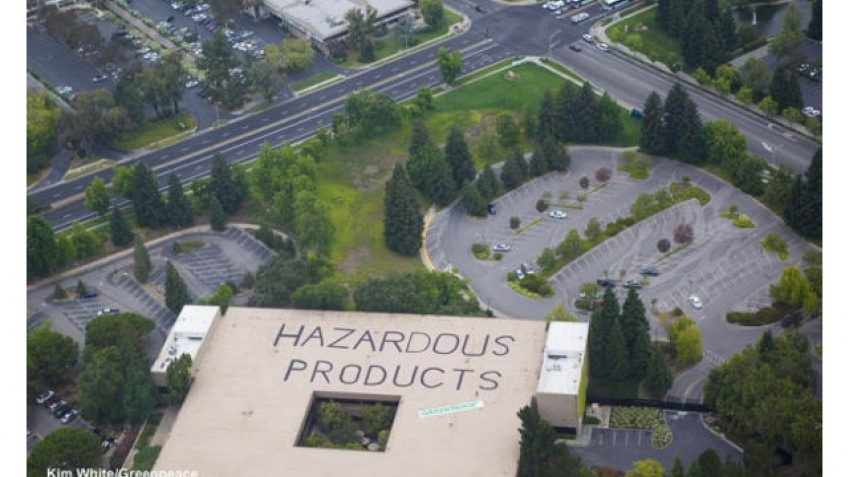 Гринпис атаковал штаб-квартиру HP