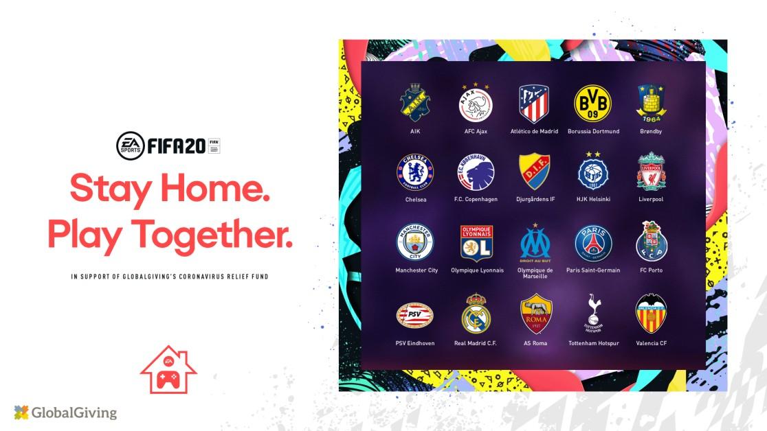 Реальные футболисты клубов Европы соревнуются в турнире Stay and Play по FIFA 20