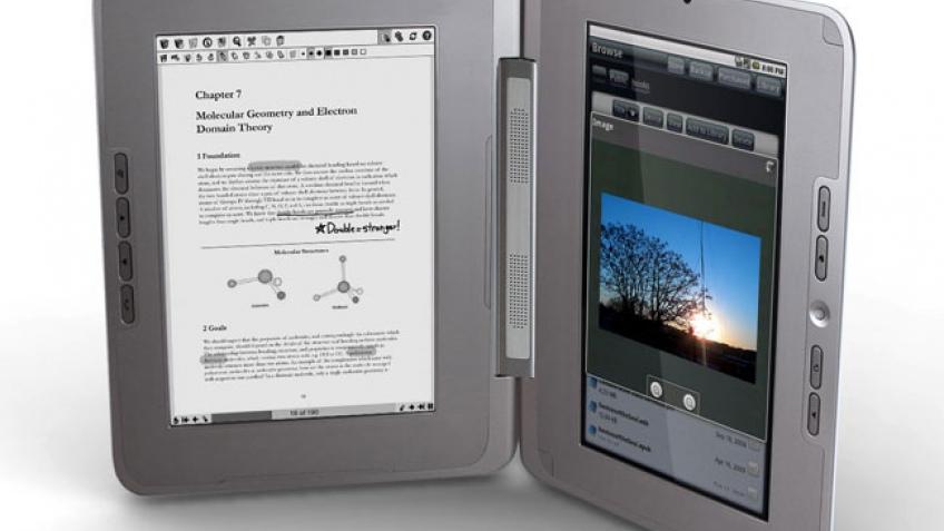 CES 2010: eBook с двумя дисплеями