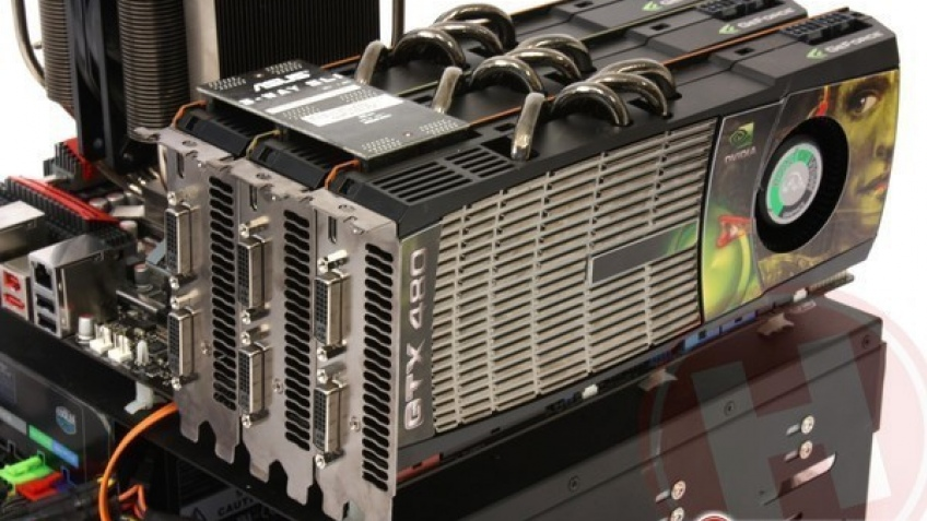 Тесты GeForce GTX 480 3-way SLI против конкурентов