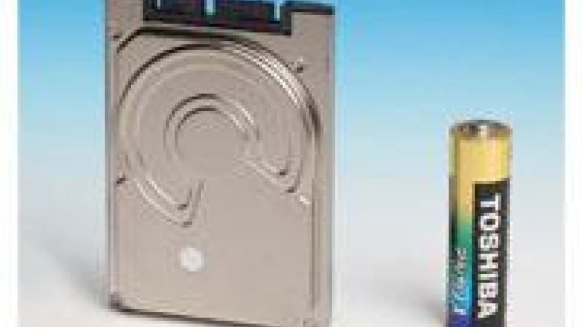 Toshiba показала миниатюрный винчестер на 160 Гб