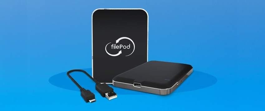 FilePod — флеш-накопитель, который подключается к облакам