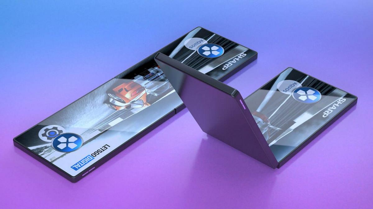 Sharp показала прототип складного смартфона