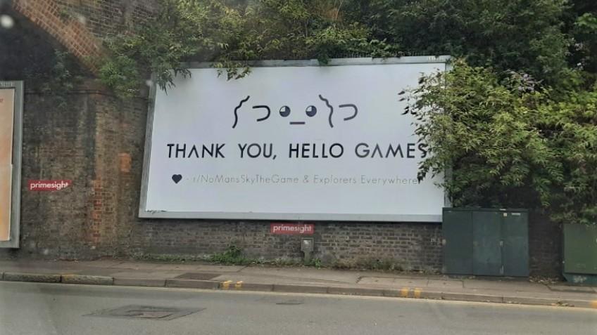 Фанаты No Man's Sky наконец установили билборд с благодарностью разработчикам