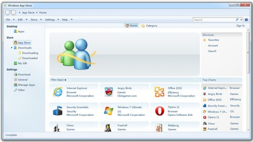 Скриншоты магазина приложений Windows 8