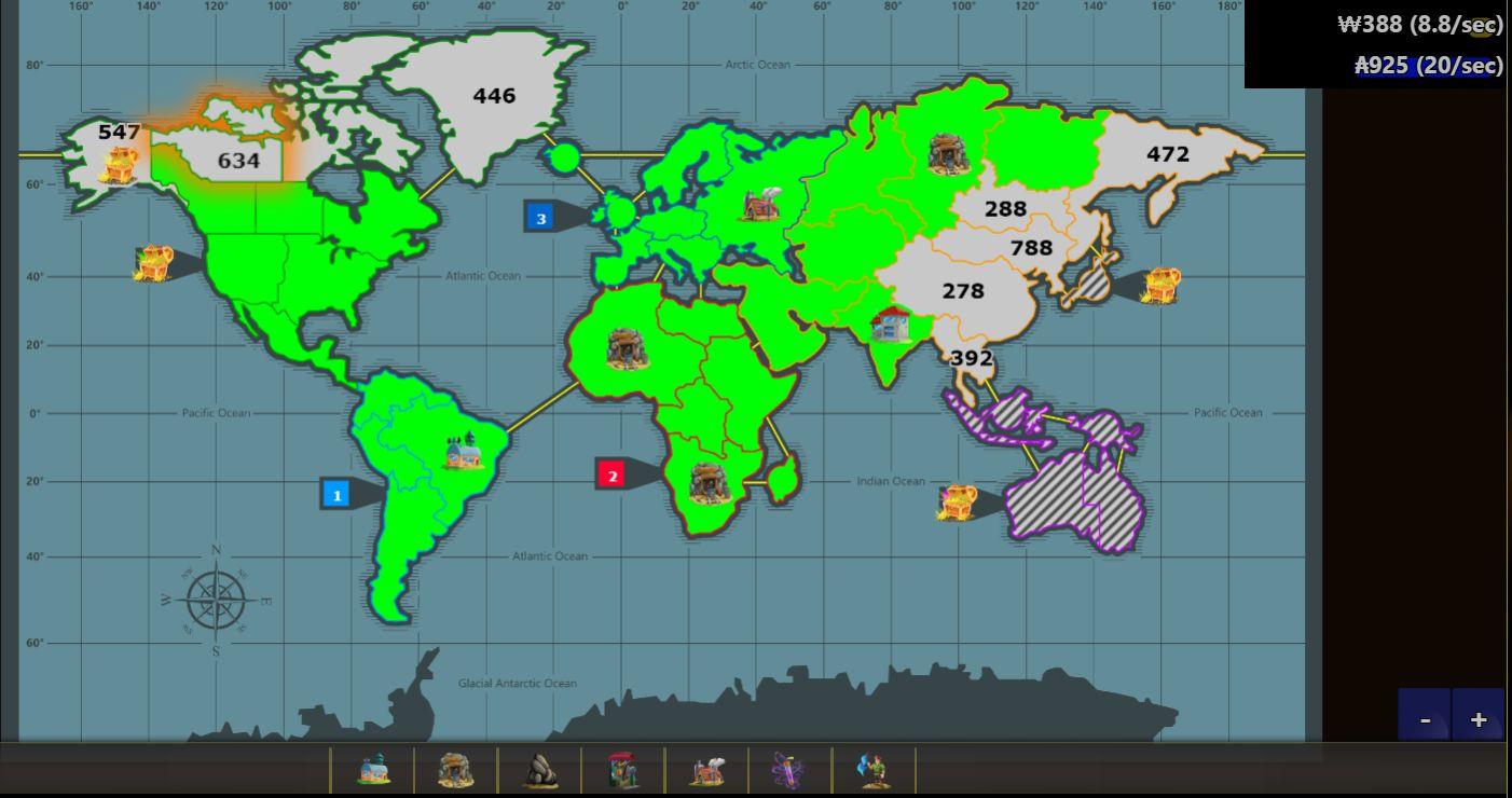Warzone Idle позволяет завоёвывать мир, не напрягаясь