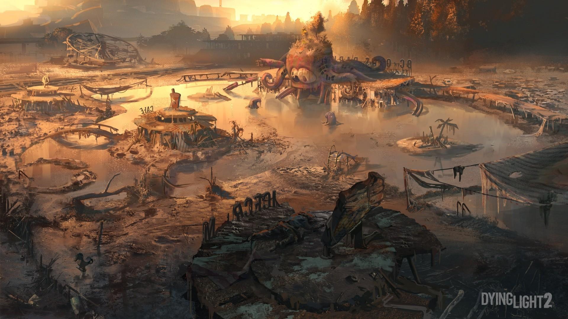 Новая локация Dying Light2 — парк аттракционов, частично вдохновлённый Припятью