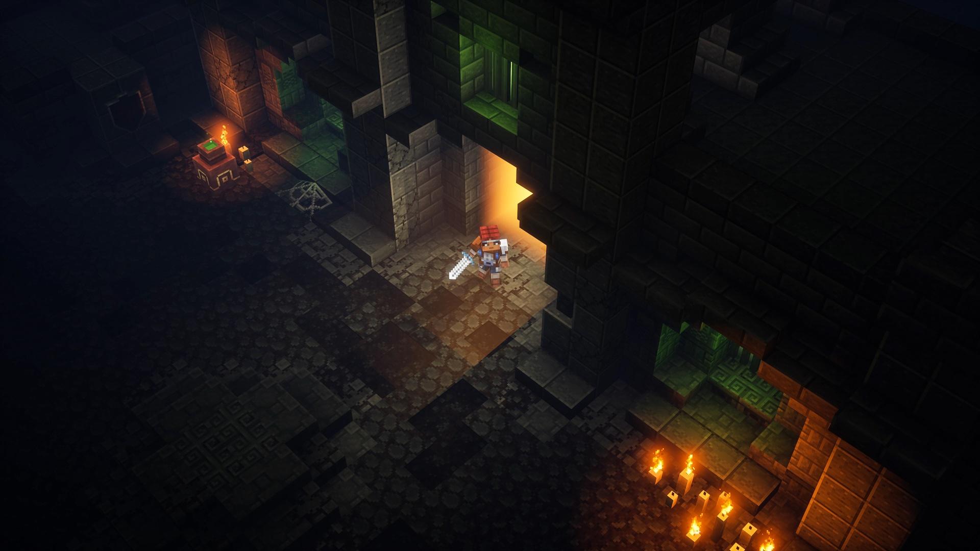 Опубликованы12 минут геймплея MinecraftDungeons