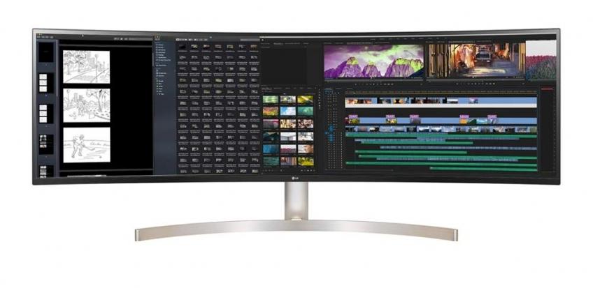 LG представила 49-дюймовый сверхширокий монитор