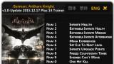Batman: Arkham Knight Трейнер +14