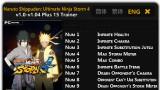 Naruto Shippuden: Ultimate Ninja Storm4 Трейнер +15