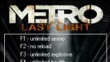 Metro: Last Light Трейнер +9