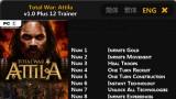 Total War: Attila Трейнер +12