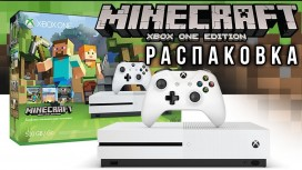 Распаковка - Xbox One S. Minecraft Edition