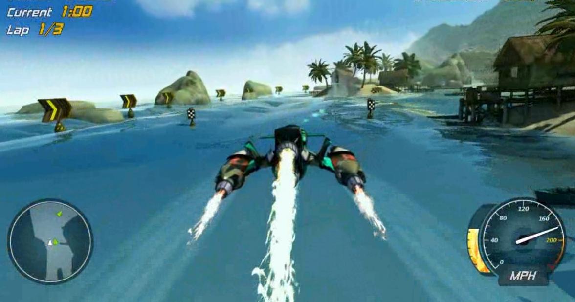 Hydro Thunder Hurricane - Monster Island Race w Cutthroat Trailer