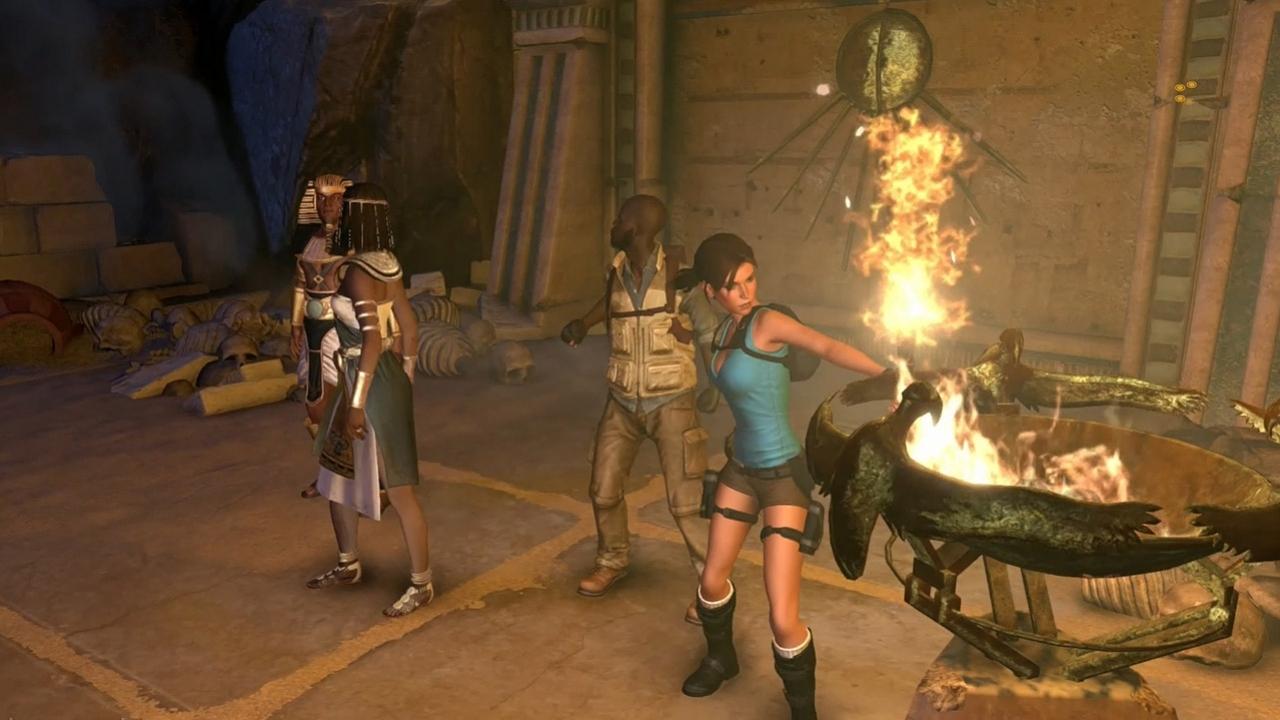 Lara Croft and the Temple of Osiris - Начало игры