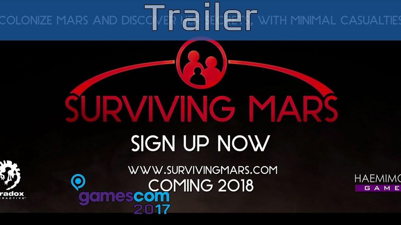 Surviving Mars. Трейлер с gamescom 2017
