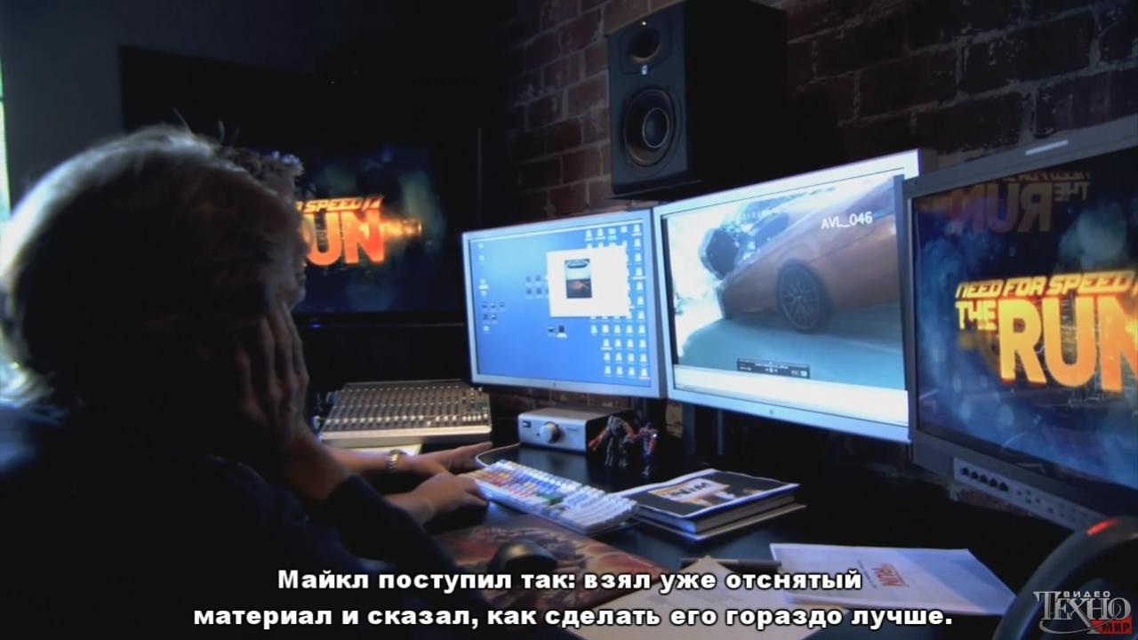 Need for Speed: The Run - О создании трейлера от Майкла Бэя (с русскими субтитрами)